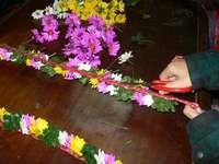 大猟祭2012 花飾り作り