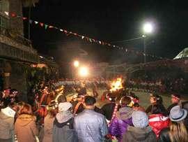 プユマ族大猟祭2012:初鹿部落の大猟祭は大晦日から一晩中続く。