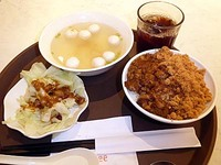 高雄の空港で食べた朝食セット
