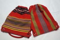 アミ族柄の織物のバッグ