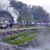 清水地熱公園(清水地熱広場)で台湾人に混じって温泉ピクニック♪
