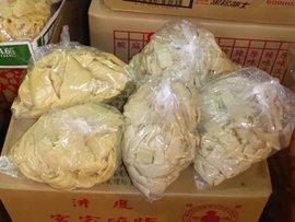 台湾で必ず買う食材の一つ。乾筍尾茸。いわゆるメンマ(シナチク)の原料です。