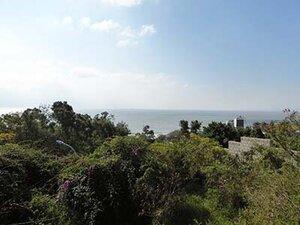 文台宝塔から見た海