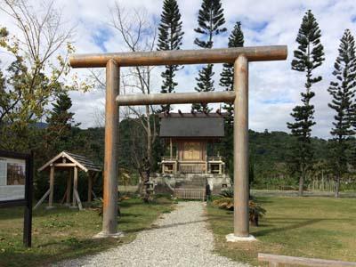 再建された鹿野神社