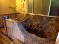 玉池温泉会館の部屋のお風呂場