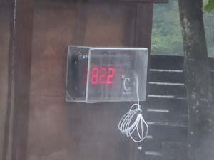 調理用の温泉の湯温は82.2度