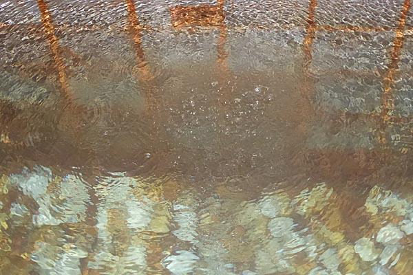 蘇澳冷泉が湧き出ているところ。シュワシュワ