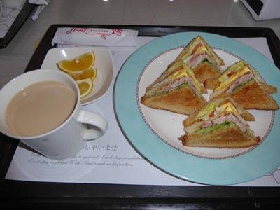 屏東のビジネスホテルのサンドイッチ