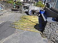スレートで組んだ水道