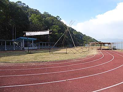 神山部落のグラウンド