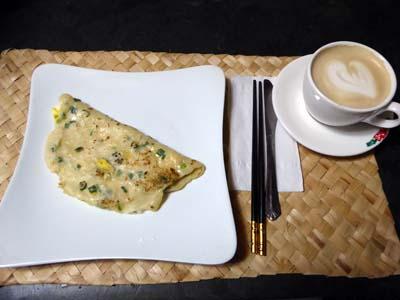 朝ご飯の蛋餅
