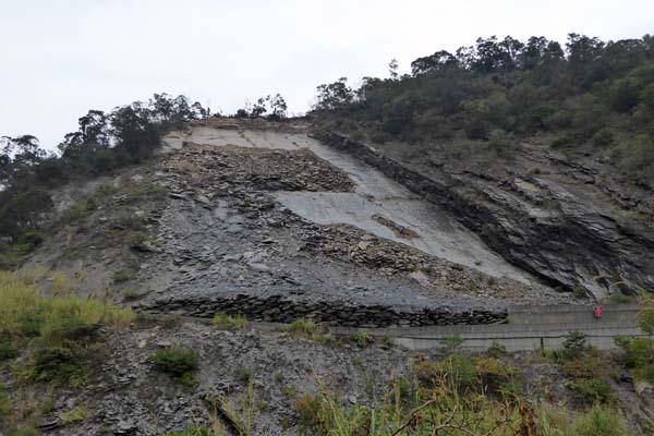 スレートの採掘現場