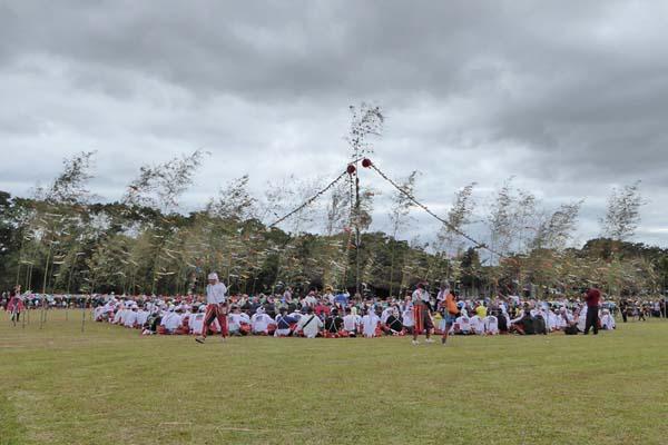 卑南文化公園の大猟祭の様子