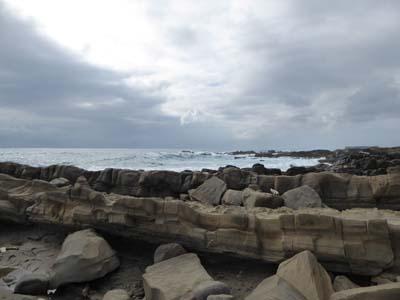 小野柳の周辺の海岸