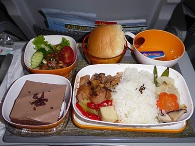 エバー航空 関空ー高雄 機内食 鶏肉