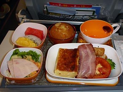 エバー航空 高雄ー関空機内食 洋食