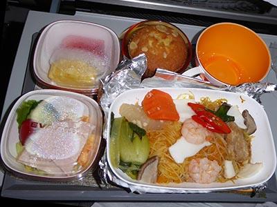 エバー航空 高雄ー関空機内食 中華